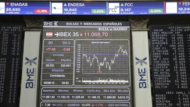 Radio 5 Actualidad - A media sesión: La bolsa, pendiente de los resultados empresariales en EE.UU. y del precio del petróleo - Escuchar ahora