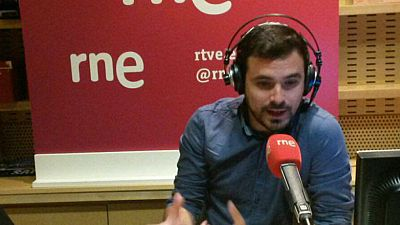 """Las mañanas de RNE - Alberto Garzón (IU): """"Si el 26J el resultado es bueno, no tendría sentido separarnos de Podemos"""" - Escuchar ahora"""