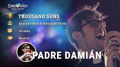 """Eurovisión 2017 - Padre Damián canta """"Thousand Suns"""""""