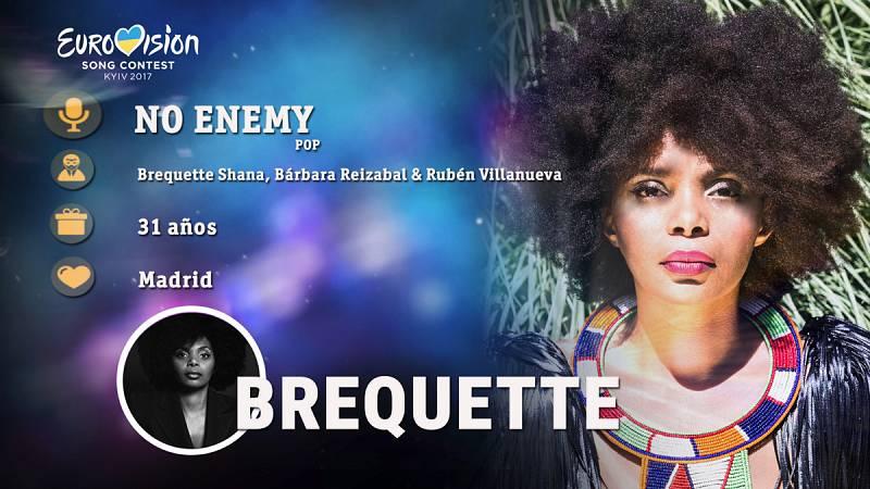 """Eurovisión 2017 - Brequette canta """"No enemy"""""""