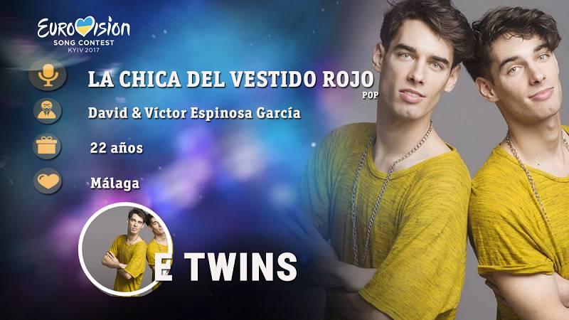 """Eurovisión 2017 - E-Twins canta """"Chica del vestido rojo"""""""