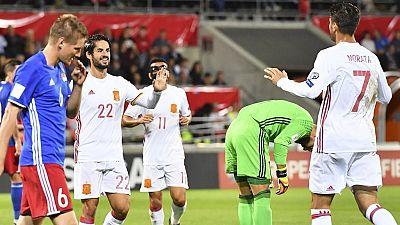 Tablero deportivo - España 8 Liechtenstein 0 - Escuchar ahora