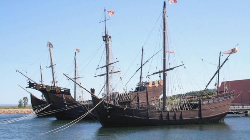 Marca España - El muelle de las carabelas de Cristóbal Colón - escuchar ahora