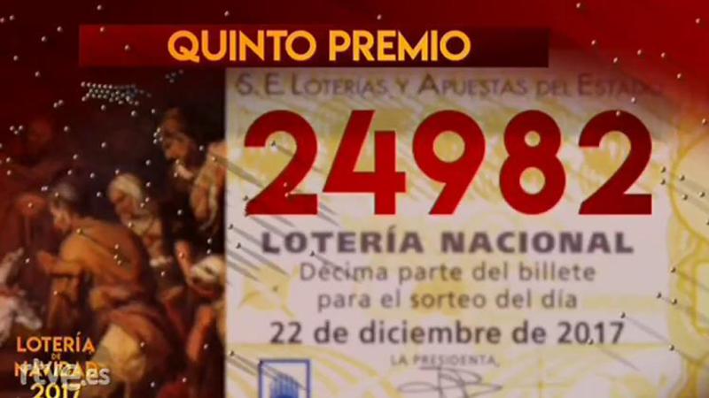 Lotería de Navidad - 24.982, quinto premio de la Lotería de Navidad - Escuchar ahora