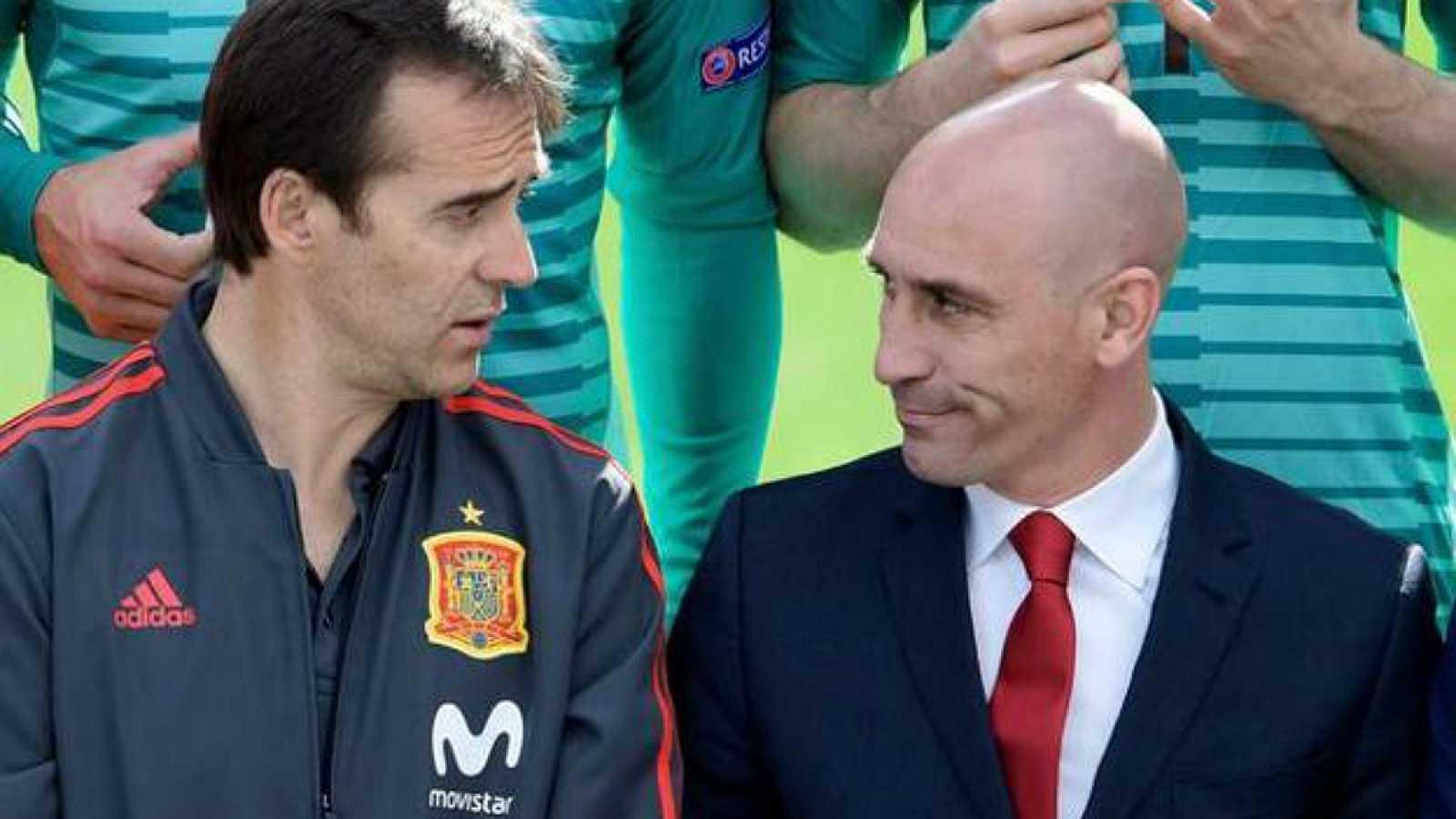España vuelta y vuelta - Luis Rubiales anuncia en directo la destitución de Julen Lopetegui - 13/06/18 - Escuchar ahora
