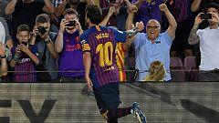 Tablero deportivo -  Los goles del F.C. Barcelona 3 D. Alavés 0