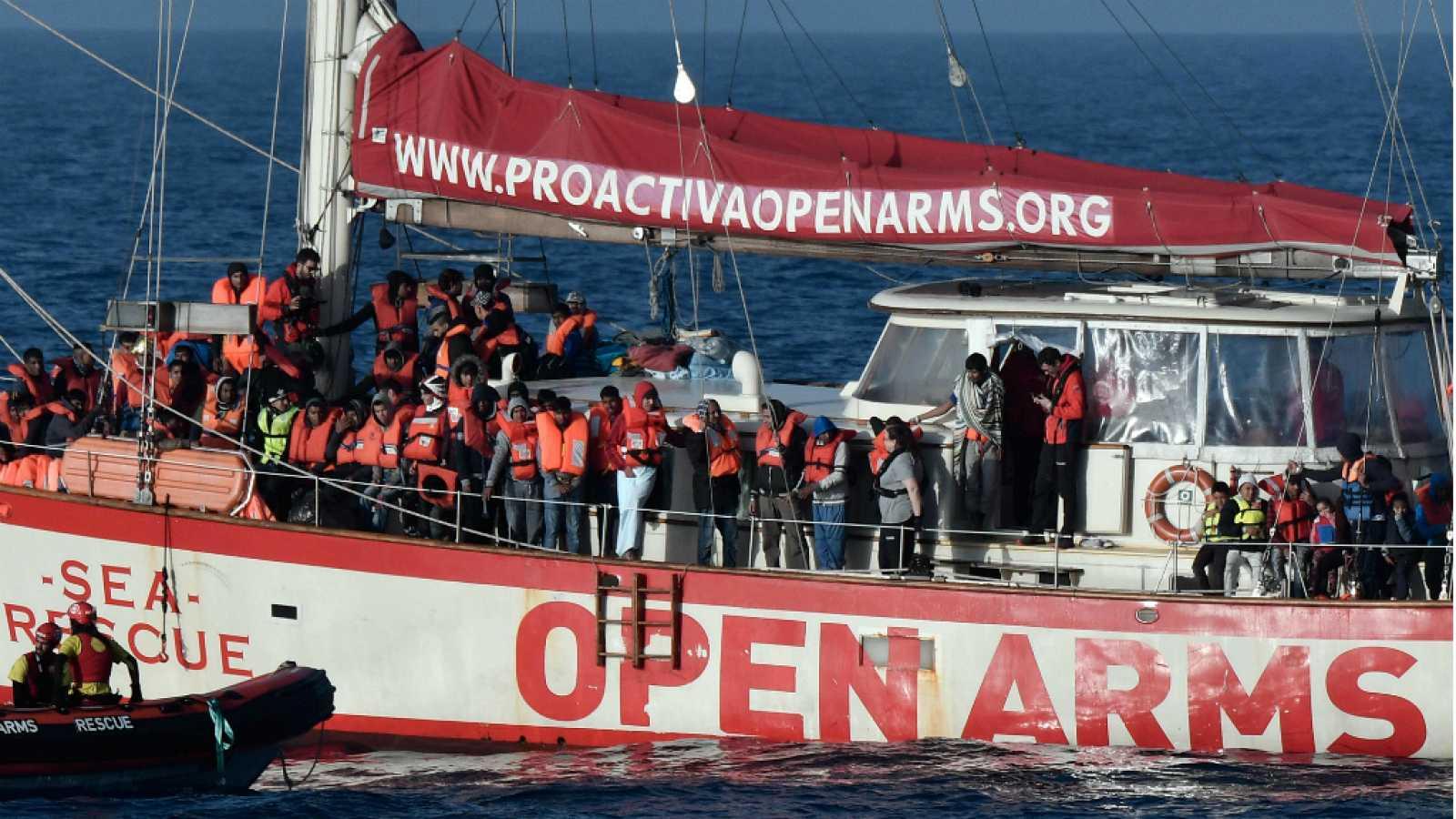 Diario de las 2 - El buque Open Arms trabajará con Salvamento Marítimo en el rescate de migrantes - Escuchar ahora