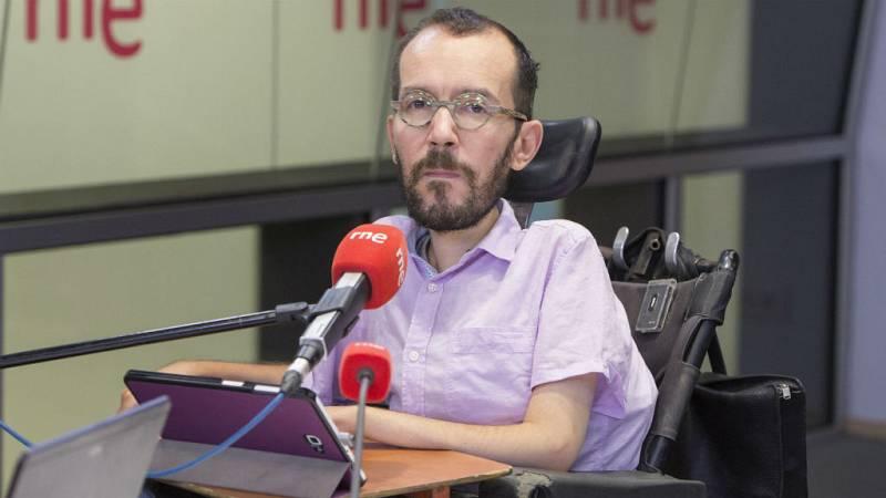 """Radio 5 Actualidad - Pablo Echenique (Podemos): """"Cuando un ministro oculta algo tiene que dimitir"""" - Escuchar ahora"""