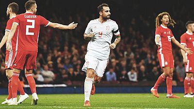 Tablero deportivo - Resumen del Gales 1 España 4 - Escuchar ahora