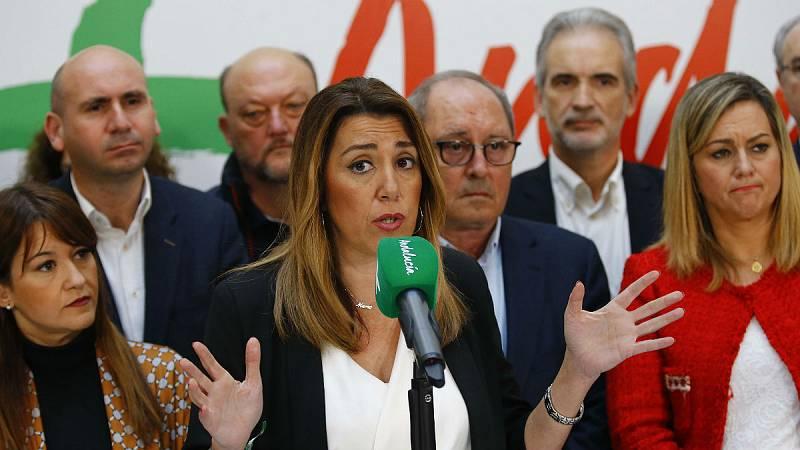 14 horas - El PSOE no descarta la dimisión de Susana Díaz, que trata de gestionar el descalabro - Escuchar ahora