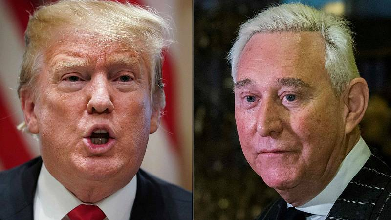 14 horas - Detenido Roger Stone, excolaborador de Trump, en relación a la trama rusa