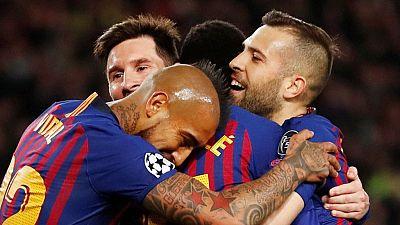 Tablero deportivo - Los goles del F.C. Barcelona 5 Olympique de Lyon 1 - Escuchar ahora