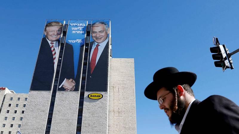 """24 horas - Trump, dispuesto a reconocer la """"plena soberanía"""" de Israel sobre los Altos del Golán - Escuchar ahora"""