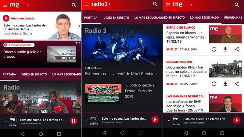 Las cuñas de RNE - Nueva versión de la app de RNE: más fácil de usar y con más servicios - Escuchar ahora