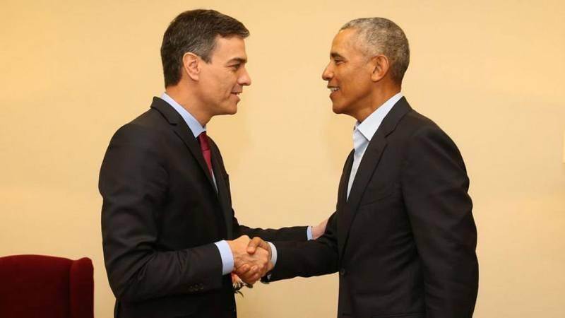 14 horas - Barack Obama se reune con Pedro Sánchez este miércoles - escuchar ahora