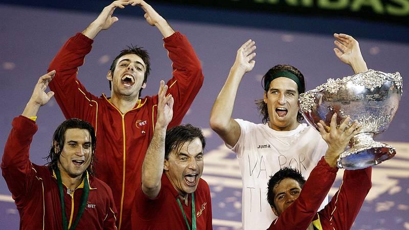 25 años de Radio 5 - España en 2008 gana su tercera Copa Davis en Argentina - Escuchar ahora