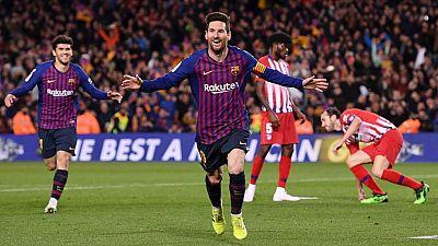 Tablero deportivo - Los goles del F.C. Barcelona 2 Atlético de Madrid 0 - Escuchar ahora