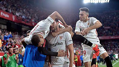 Tablero deportivo - Los goles del Sevilla F.C. 3 Real Betis 2 - Escuchar ahora
