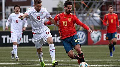 Tablero deportivo - Los goles del Islas Feroe 1 España 4 - Escuchar ahora
