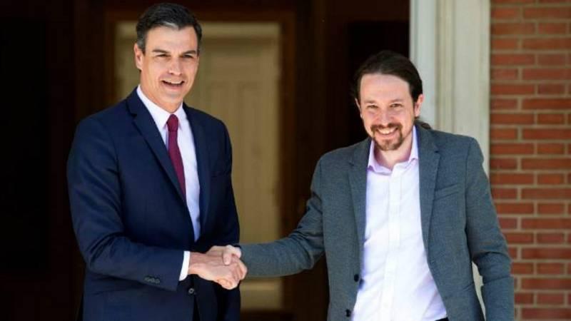 14 horas - Sánchez e Iglesias se reunieron este lunes para negociar el gobierno - Escuchar ahora