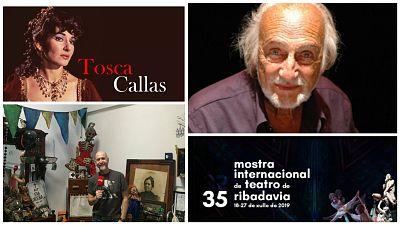 Las cuñas de RNE - En el taller de El espejo negro, teatro en Ribadavia, 'Tosca' y Héctor Alterio - 21/06/19 - Escuchar ahora