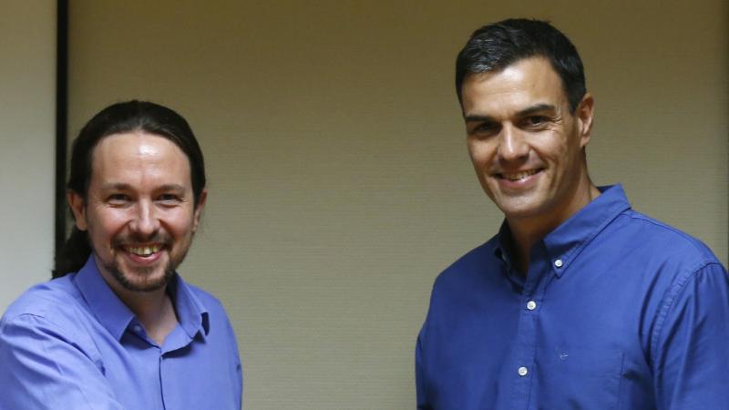 Pedro Sánchez y Pablo Iglesias se reúnen en Moncloa - escuchar ahora