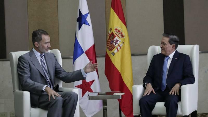 Felipe VI traslada su apoyo a Cortizo, orgulloso de sus raíces españolas - Escuchar ahora