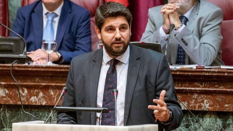 """14 horas - López Miras promete un gobierno """"sin fisuras"""" con guiños a Vox - Escuchar ahora"""