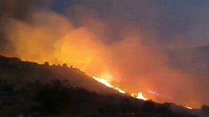 La UME se suma a la extinción del incendio de Navalacruz