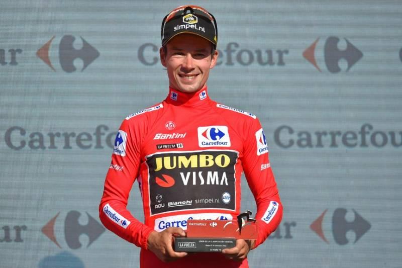 La Vuelta - Primoz Roglic se enfunda el maillot de lider tras la crono de Pau - Escuchar ahora