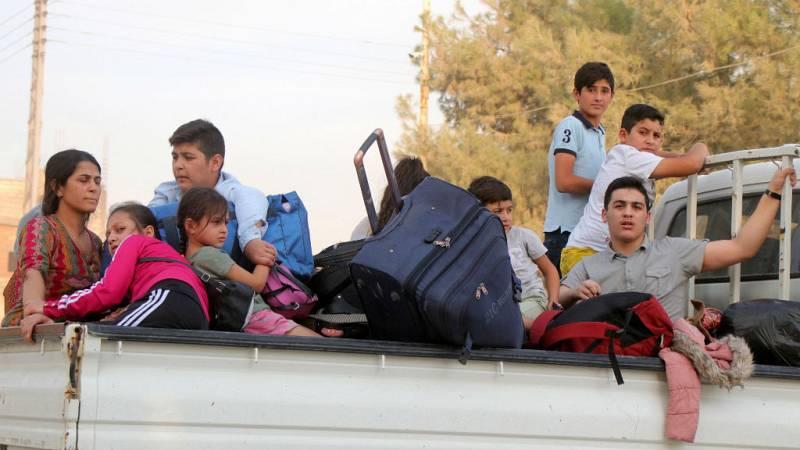 Boletines RNE - Unas 100.000 personas han abandonado sus hogares en Siria por la ofensiva turca