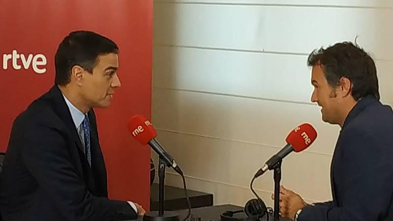 """Las mañanas de RNE con Íñigo Alfonso - Entrevistas electorales - Sánchez pide el """"voto útil"""" para desbloquear el país y no decarta la abstención de Cs o PP, ni la vía de la moción de censura - Escuchar ahora"""