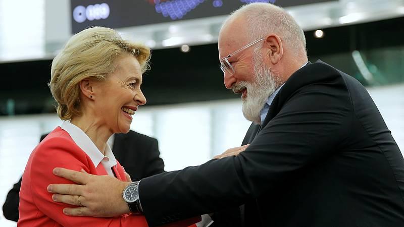 Boletines RNE - El Parlamento Europeo aprueba la Comisión de von der Leyen - Escuchar ahora