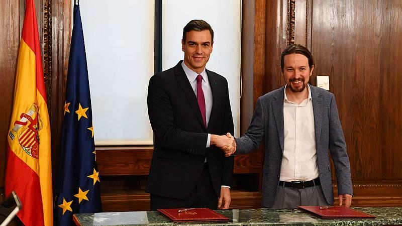 """Boletines RNE - Pedro Sánchez: """"Es un acuerdo socialmente justo, valiente y progresista"""" - Escuchar ahora"""