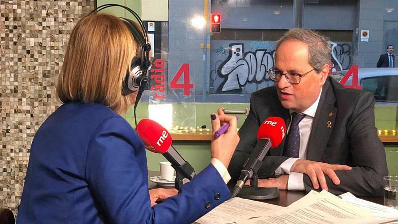 """El Matí de Ràdio 4 - Torra: """"Se puede hablar de condiciones o plazos, pero el referéndum es el objeto central de la negociación"""" - Escuchar ahora"""