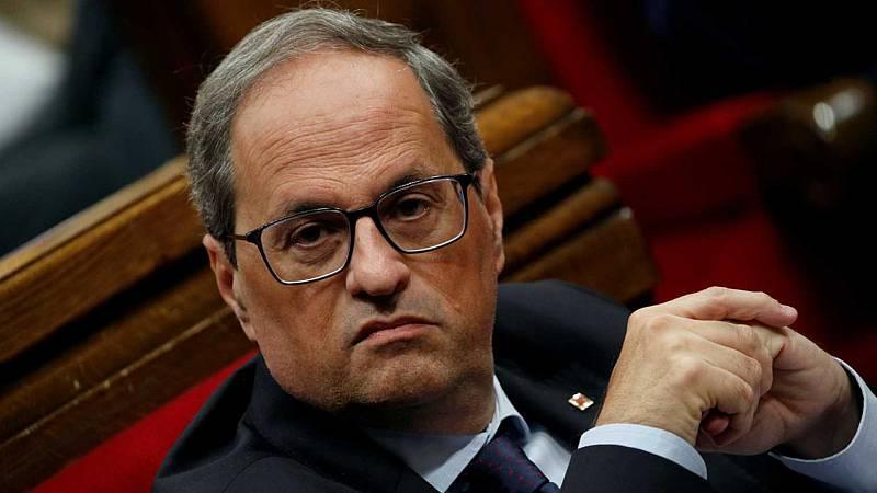 14 horas - Los letrados del Parlament cuestionan que Torra pueda presidir la Generalitat sin acta de diputado - Escuchar ahora