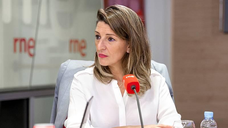 """Las mañanas de RNE con Íñigo Alfonso - Yolanda Díaz: """"La cancelación del MWC tiene impacto económico y social, no es buena noticia"""" - Escuchar ahora"""