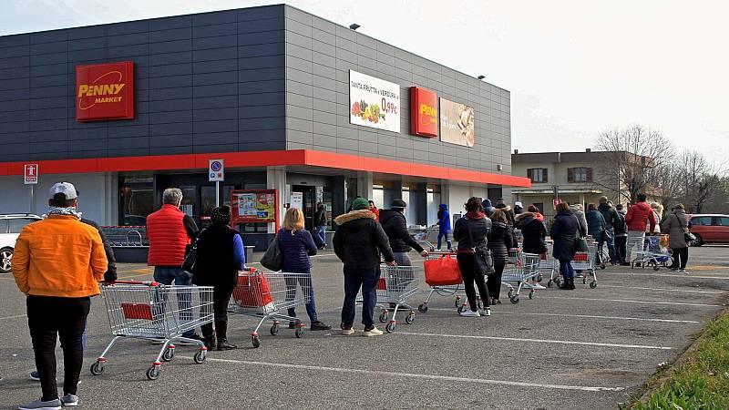 24 horas fin de semana - 20 horas - El norte de Italia paralizado, colas en los supermercados y calles desiertas por el coronavirus - Escuchar ahora
