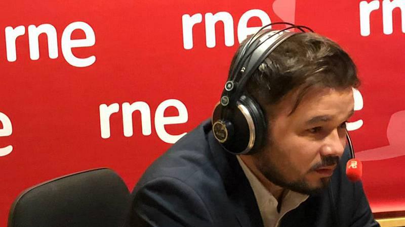 """14 horas - Rufián: """"Sería irresponsable poner condiciones sine qua non a la mesa"""" - Escuchar ahora"""
