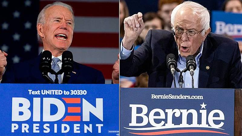 Las mañanas de RNE con Íñigo Alfonso - Biden desplaza a Sanders en ocho estados pero no conquista California en el 'supermartes' - Escuchar ahora