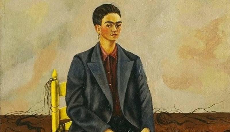 """El gallo que no cesa - Punto de fuga: """"Autorretrato con pelo cortado"""", de Frida Kahlo - Escuchar ahora"""