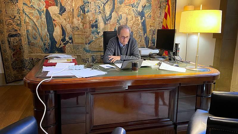 España a las 8 Fin de Semana - Torra insiste en que cerrar Cataluña sería la medida más eficaz contra el COVID-19 - Escuchar ahora