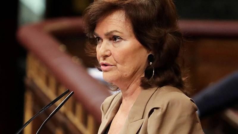 Boletines RNE -  La vicepresidenta Carmen Calvo, positivo en coronavirus - Escuchar ahora