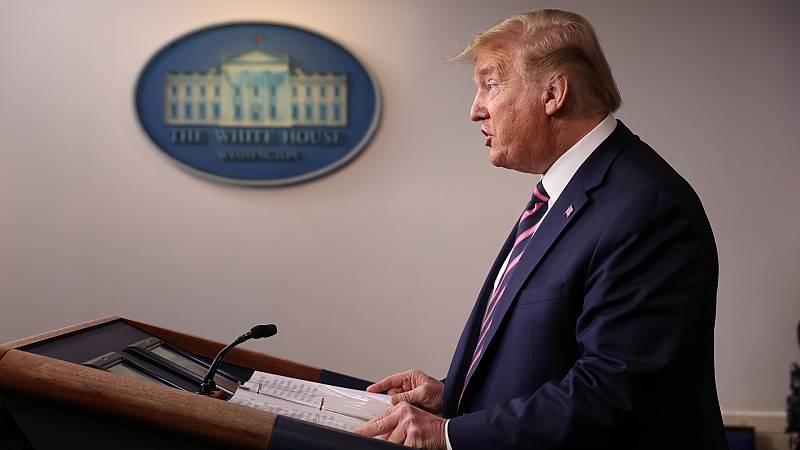 España a las 8 Fin de Semana - Trump justifica sus palabras sobre el uso de desinfectantes y acusa a los medios de malinterpretarlas - Escuchar ahora