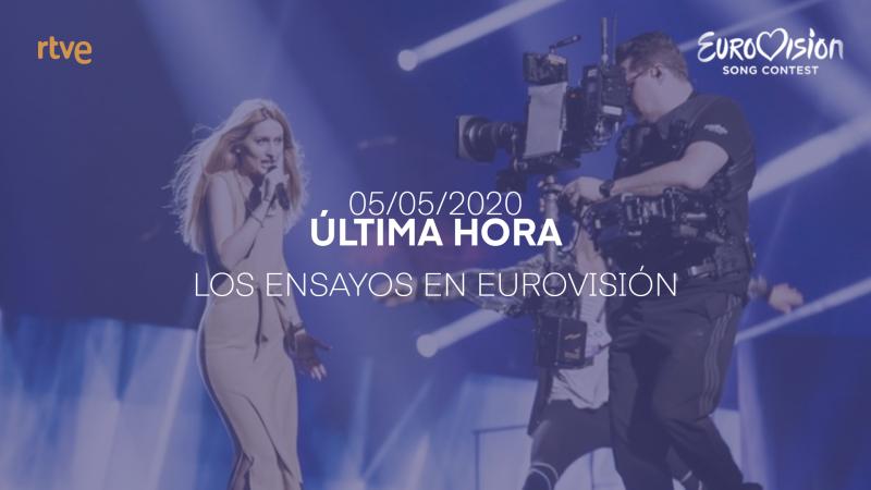 Ensayos del festival de Eurovisión