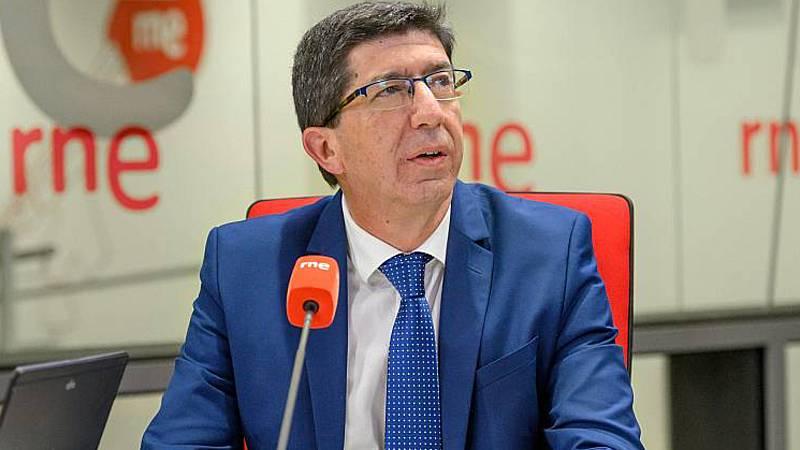 """24 horas - Juan Marín: """"Los criterios no han sido sanitarios: solo dos distritos de Málaga y uno de Granada no cumplían los requisitos"""" - Escuchar ahora"""