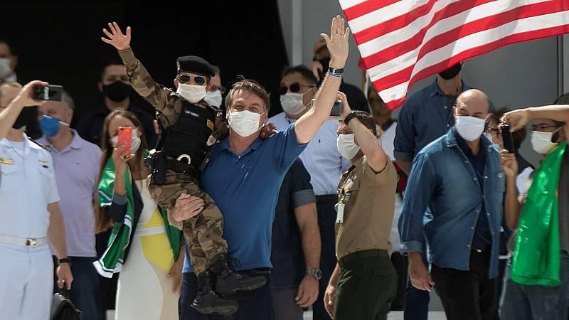 24 horas fin de semana - 20 horas - Bolsonaro se manifiesta y vuelve a criticar las medidas de distanciamiento y Brasil se convierte en epicentro de la pandemia en Latinoamerica - Escuchar ahora