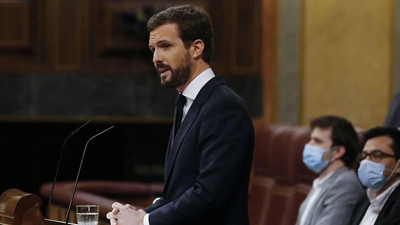 """14 horas - Casado acusa a Sánchez de ir """"como pollo sin cabeza, cambiando de socios y de estrategia"""" - Escuchar ahora"""