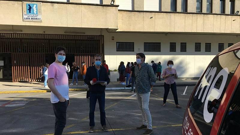 Las mañanas de RNE con Íñigo Alfonso - La vuelta a las aulas en un instituto gallego: más nervios por la EBAU que por el coronavirus - Escuchar ahora