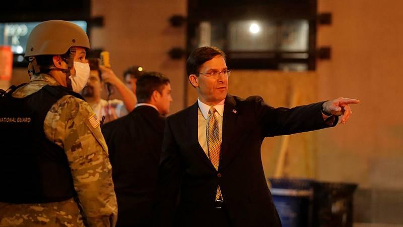 Las mañanas de RNE con Íñigo Alfonso - El jefe del Pentágono contradice a Trump y rechaza desplegar el Ejército para frenar las protestas en Estados Unidos - Escuchar ahora